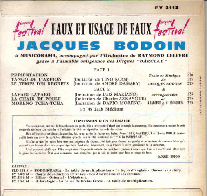 Disques 45 tours vinyl d 39 humour de guy bedos pierre jean - Jacques bodoin la table de multiplication ...