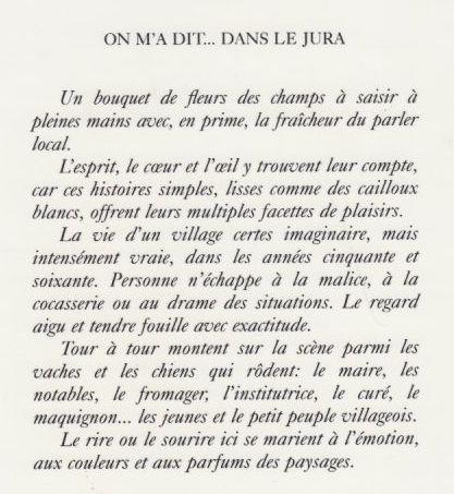 ON M A DIT...DANS LE JURA HISTOIRES PRESQUE VRAIES - Michel Vernus